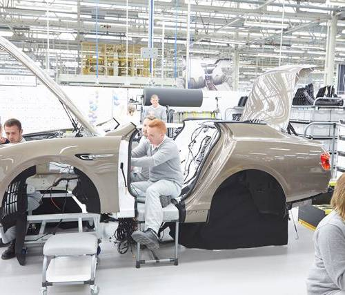 Record number of apprenticeship schemes offered by car manufacturer Bentley this week