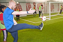 Students take part in physics and football