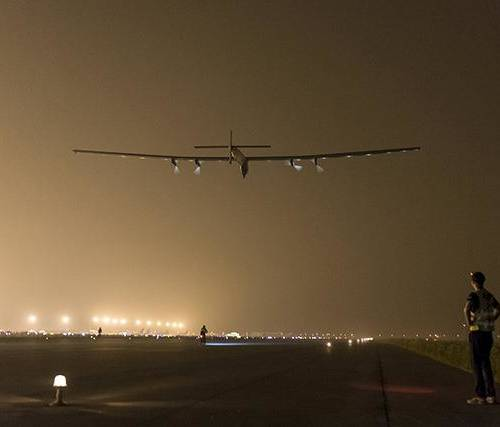 Solar flight grounded in Japan after bad weather conditions