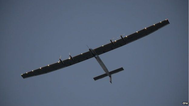 Solar powered plane completes historic journey