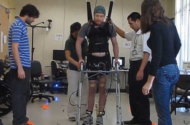 engineering careers  Disabled man walks again using mind control technology