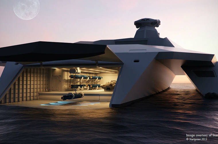 Warship of the future designed by young engineers