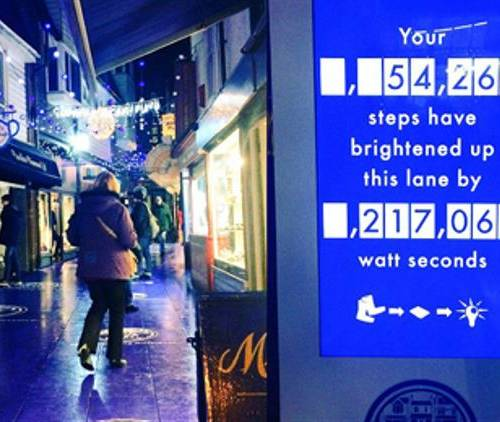 Shoppers power the Christmas lights
