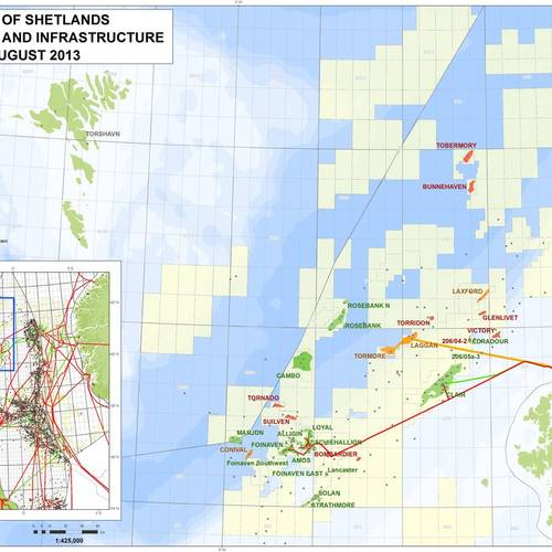 First gas extracted by Total from gas field west of Shetland