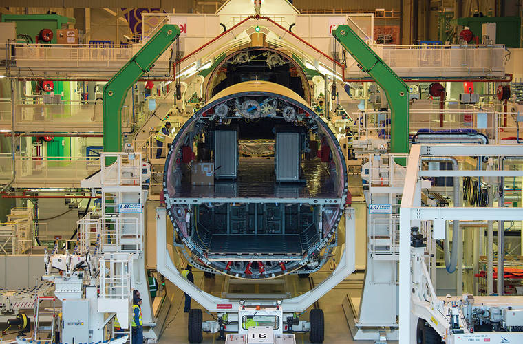 Aircraft manufacturers use augmented reality to make assembly quicker and more accurate
