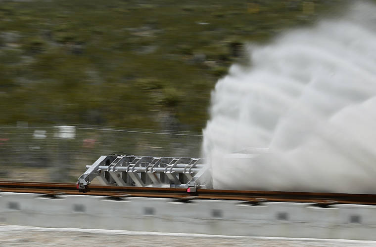 Open air test for Hyperloop One Successful