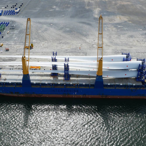 World's most powerful wind turbine blades assembled in Belfast Harbour