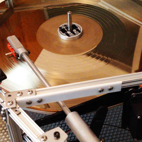 First vinyl played record in space