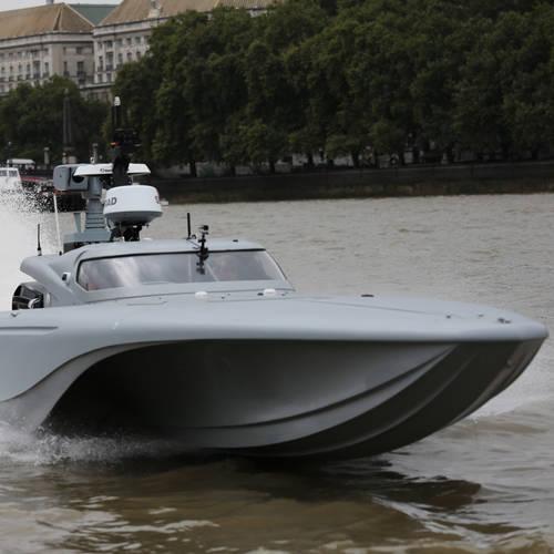 Royal Navy unveil robotic speedboat