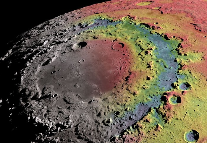 Computer simulations reveals how the Moons huge Orientale Crater formed