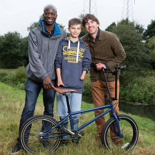 Yusuf Muhammads revolutionary technology helps teenager with no hands or feet ride a bike for the first time