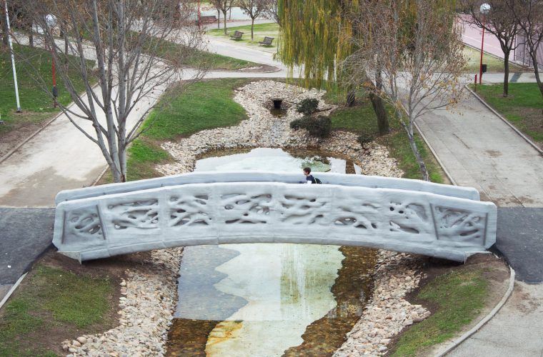 World's first 3D-printed footbridge