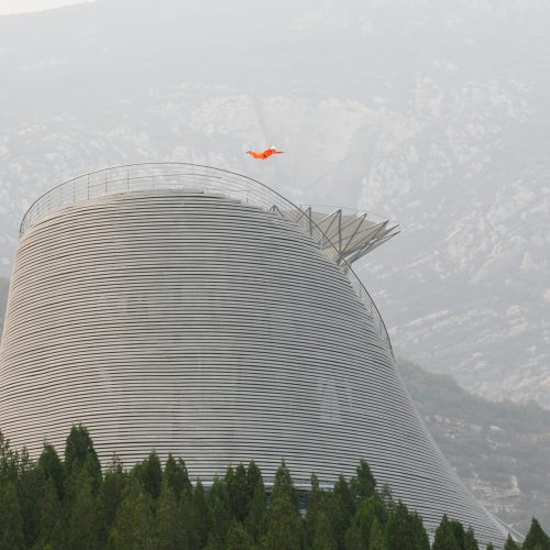 Wind tunnel allows monks to fly above Shaolin Flying Monks Temple