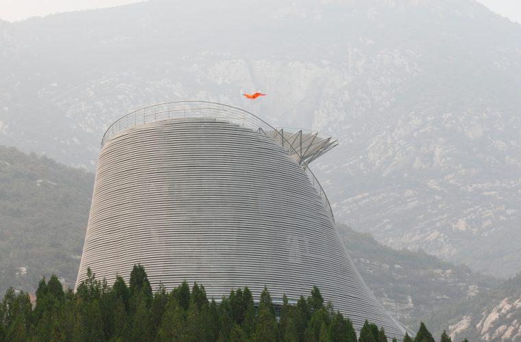 "Wind tunnel allows monks to fly above ""Shaolin Flying Monks Temple"""