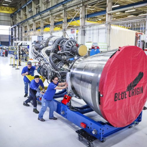 Blue Origin Unveils an Enormous Engine for Manned Missions