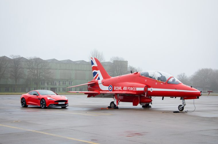 Aston Martin Support the RAF Benevolent Fund with Vanquish S Red Arrows Raffle