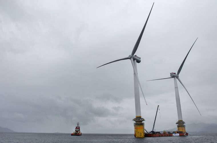 World First – Floating Wind Farm starts to take shape off coast of Scotland