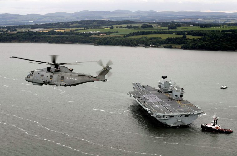 HMS Queen Elizabeth – Royal Navy's largest ever warship – sets sail