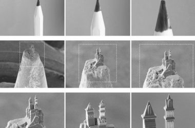 engineering careers  3D printing a castle on the nib of a pencil