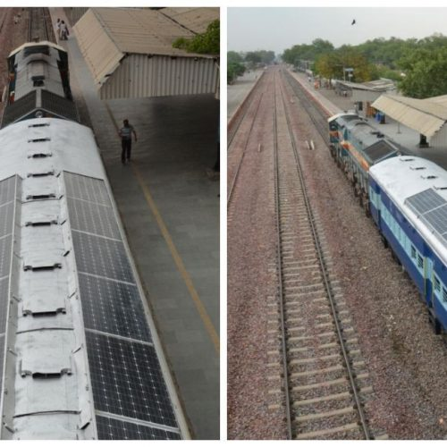 India rolls out solar-powered train coaches that'll will save thousands of litres of diesel