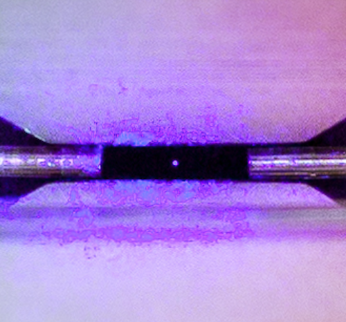 This stunning photo shows a single atom trapped by electric fields