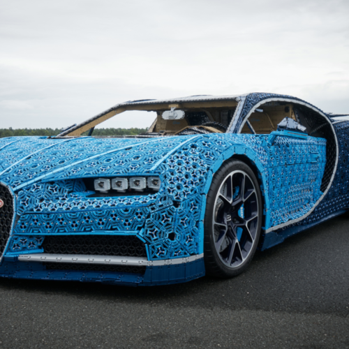 LEGO create a drivable Bugatti