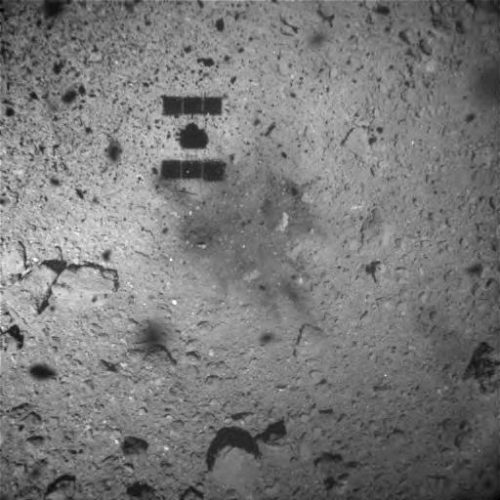 Japan's Hayabusa-2 spacecraft reveals touch down marks