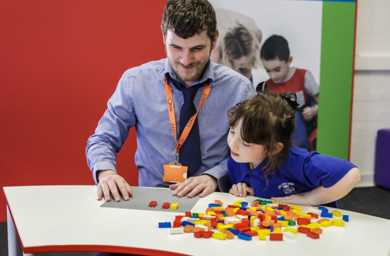 Lego Braille bricks help visually impaired children learn