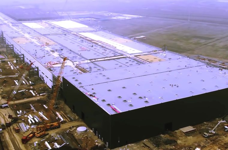 Drone Video Reveals the scale of Tesla's Shanghai Gigafactory 3