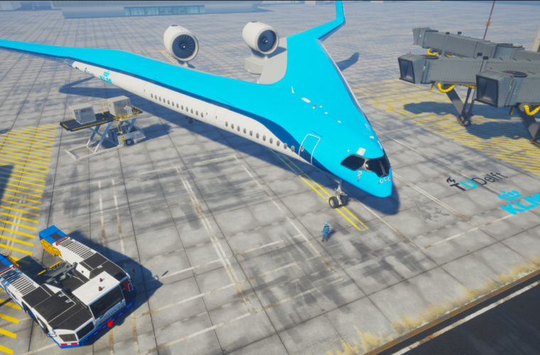 New V-shaped aeroplane will reduce weight and increase fuel efficency