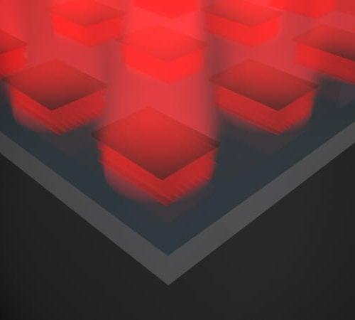 Rice device converts heat to light
