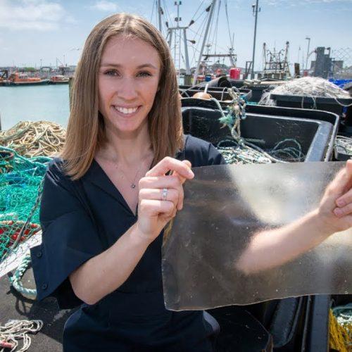 Fish scale bioplastic nets UK James Dyson Student Award