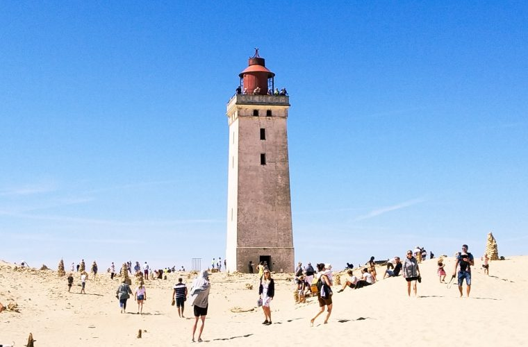 Watch as the Danish Rubjerg lighthouse is moved inland on skates