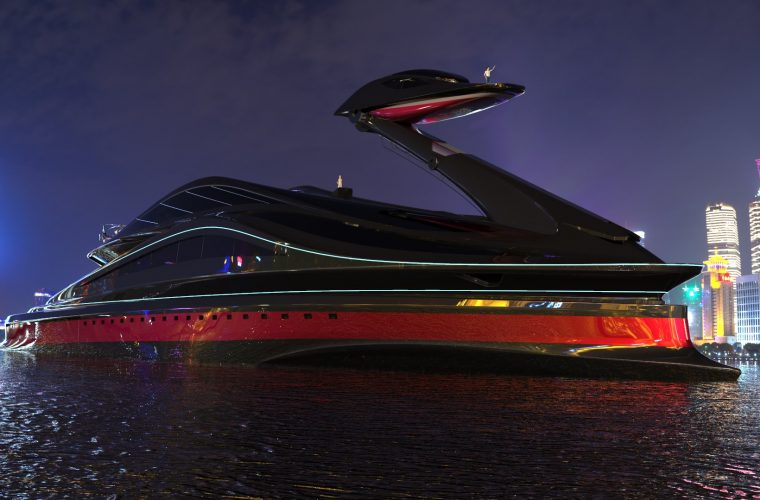 Avanguardia – The Swan Shaped Super Yacht
