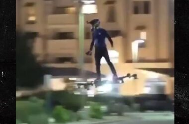 engineering careers  Real life Hoverboard spotted flying through city