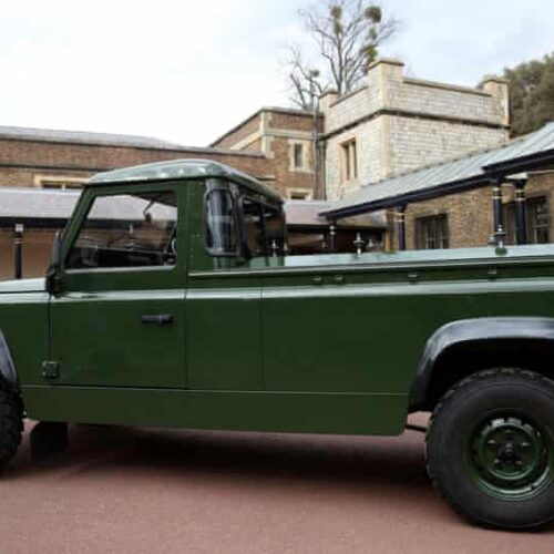 Prince Philip's funeral hearse is a modified Land Rover Defender