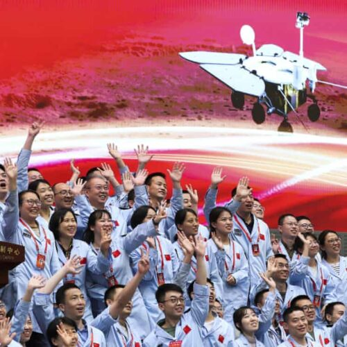 China touches down on Mars for first time