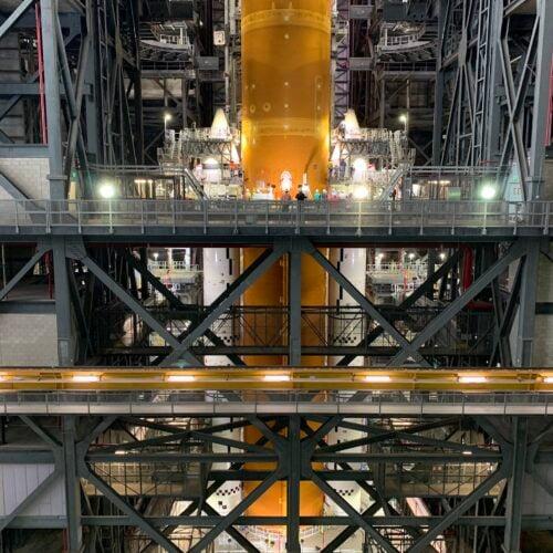 The road to assembling NASAs mega-rocket.