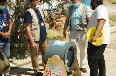 engineering careers  Hand-cranked washing machines given to refugees